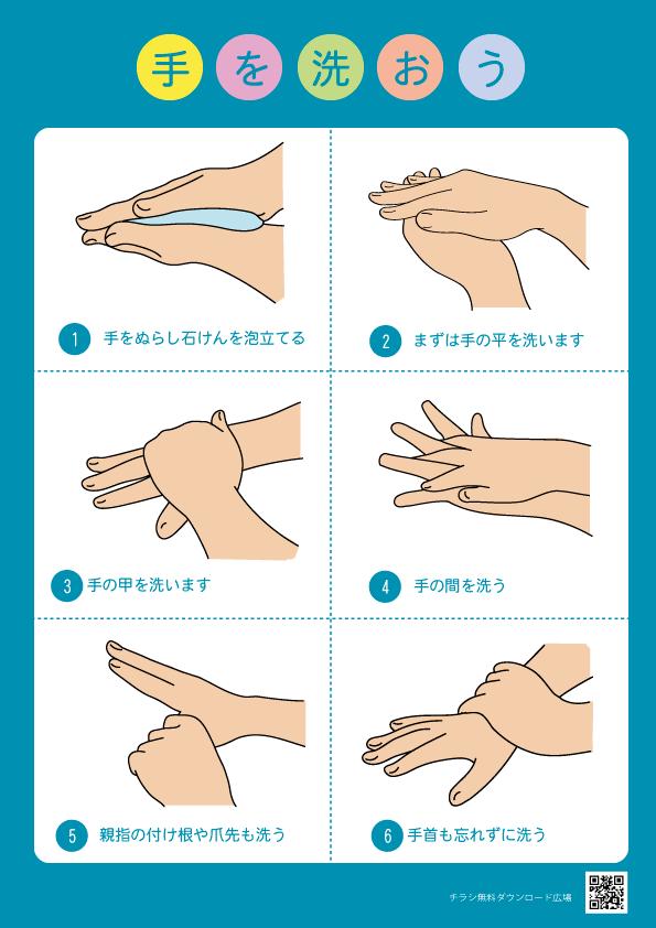 手を洗おうポスター